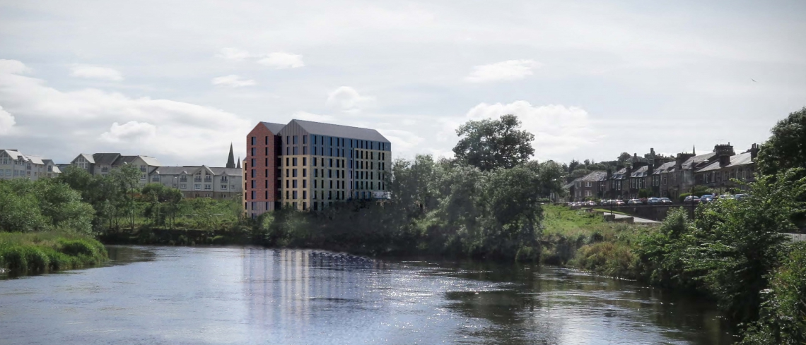 Render of the Forthside development