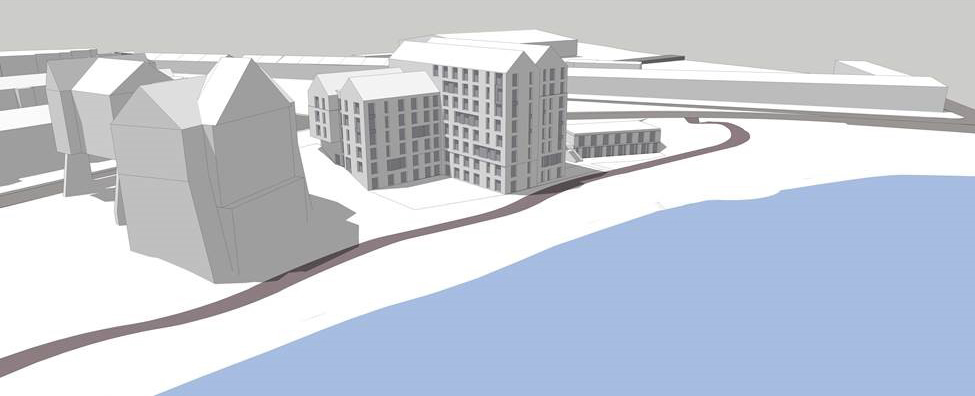 Wireframe Render of the Forthside Development